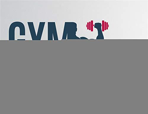 wandaufkleber 3d Wandtattoo Wohnzimmer Turnhalle Fitness Sport Muskel Männer Bodybuilding Gewicht Aufkleber Wohnzimmer Spielzimmer Fitness-Center Fitnessraum (Gewicht Muskel-mann)