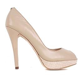 Versace Damen Pumps Highheels Stilettos Beige BS28(EUR 39)