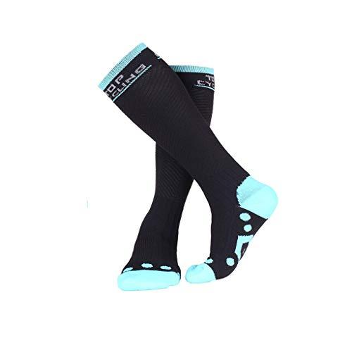 Kompressionssocken - ✔YSW Outdoor Bergsteigen Reise Atmungsaktive Kompressionssocken (15-20 mmHg) Männer Frauen Laufen Marathon Socken Outdoor-Ausrüstung (Farbe : Blau, größe : L)