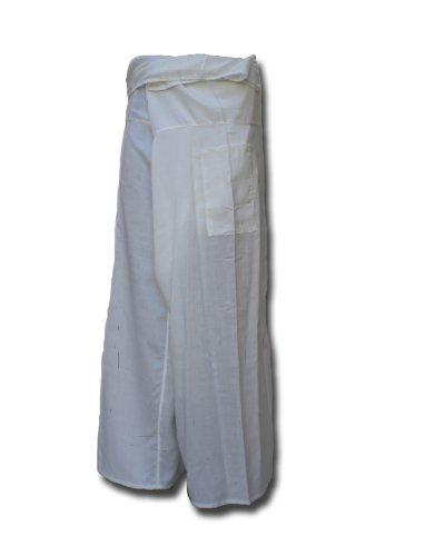 Fisherman Pants LONG Thai Yoga Wrap soft Wickelhose weiß -