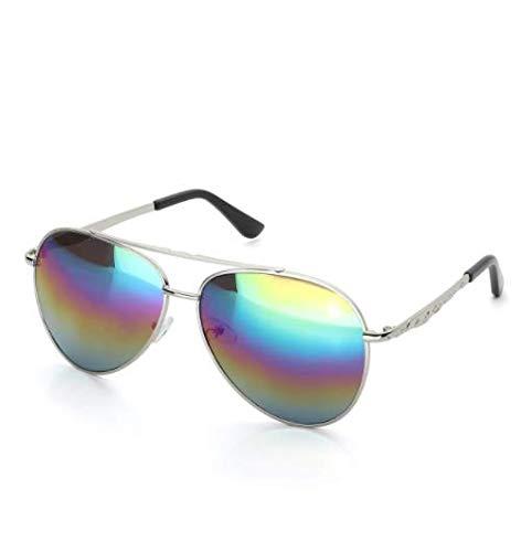 WENZHEN Aviator-Sonnenbrille mit Metallstabantrieb, Unisex-Sonnenbrille, Multi