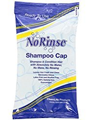 No Rinse Waterless Shampoo Cap (5-Pack)