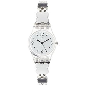 Swatch Reloj Digital de Cuarzo para Mujer con Correa de Acero Inoxidable