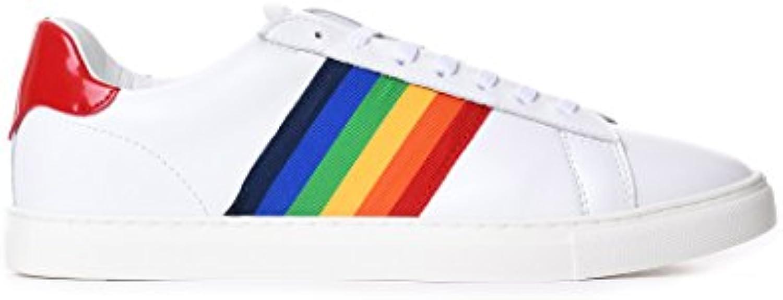 DSquared Zapatillas de Otra Piel Para Hombre Blanco Blanco