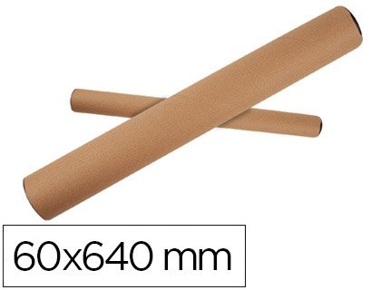 Q-Connect Tubo De Cartón Portadocumentos Tapa Plástico 60X640 Mm
