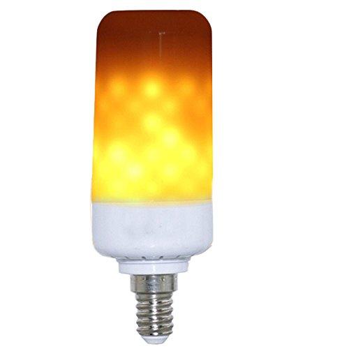 Gladle LED-Glühbirnen 5W 99Leds E14 Standard Basis Flackernde Feuer-Atmosphären-dekorative Lampen