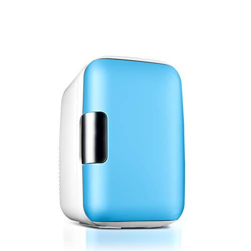 small fridge 6L Mini Flange Compact Weinkühlschrank/Wärmflasche Für Road Trips Familien Schlafsäle Classic Blue (Motorrad Trip Road)