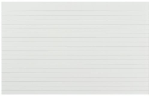 Q-Connect Ruled Feint Record Card, 8 x 5 Inches - White, Pack of 100 Test