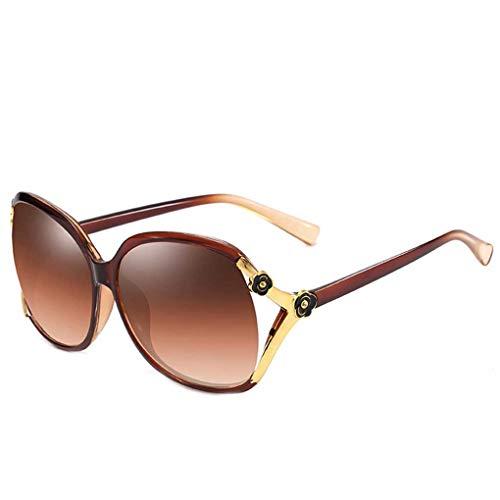Luckiests Frauen-Blumen-Dekoration Kunststoff-Rahmen Sonnenbrillen UV-Schutz Shades Brillen Female Wandern Sonnenbrillen