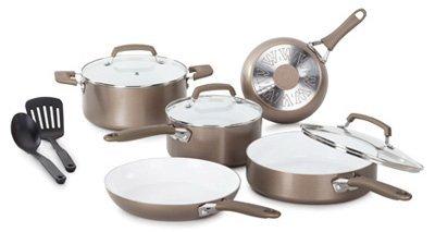 Wearever C944SA64 10 Piece Ceramic Interior Cookware Set