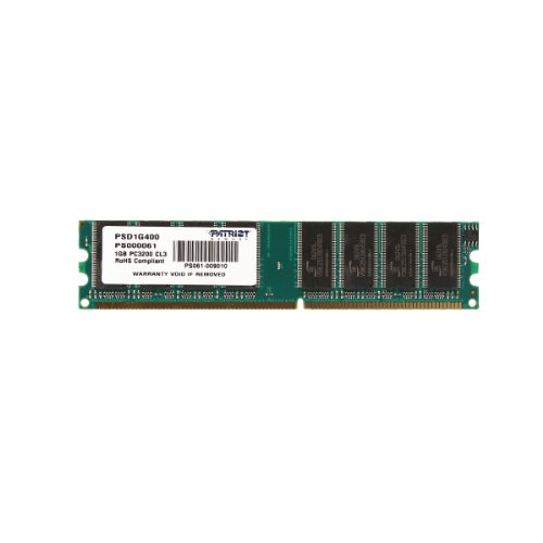 Patriot Memory PSD1G400 - 1GB DDR DIMM, 400Mhz PC3200 DDR400, CL3, 2.5V MEMORIA DESKTOP