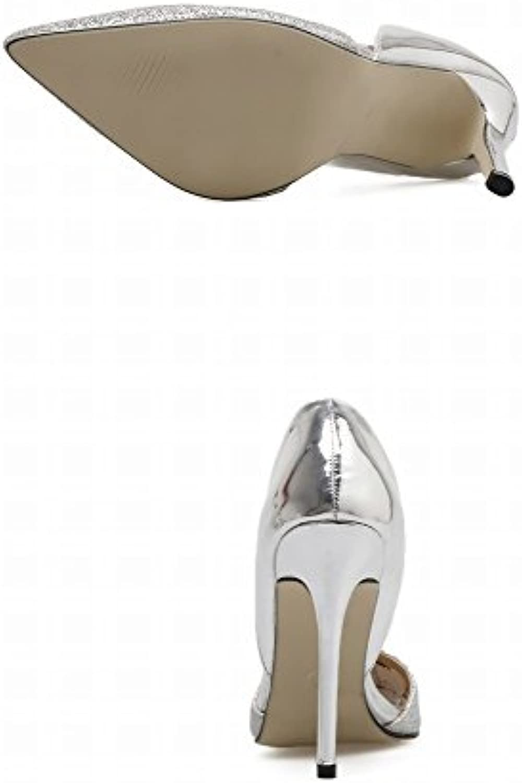 DIDIDD Punta D'argentoo oro Bene Bene Bene con Scarpe Tacco Alto Scarpe da Sposa Scarpe Singole Occidentali,argentoo,37 | Alla Moda  89b821