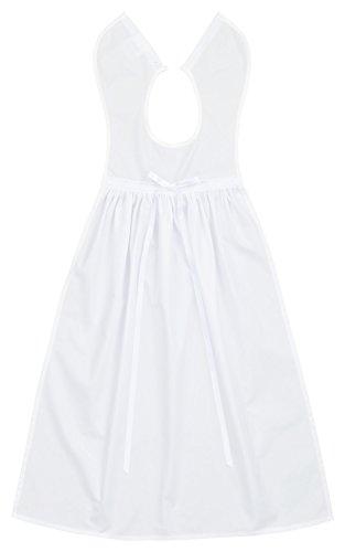 Taufaufleger Baumwolle mit weißer Schleife, Festliche Taufbekleidung für Jungen und Mädchen