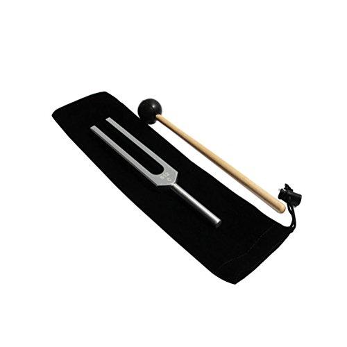 ROSENICE Stimmgabel 512 Cps Silikon Hammer und Tragetasche für sensorische Audio-Tests (wie abgebildet)