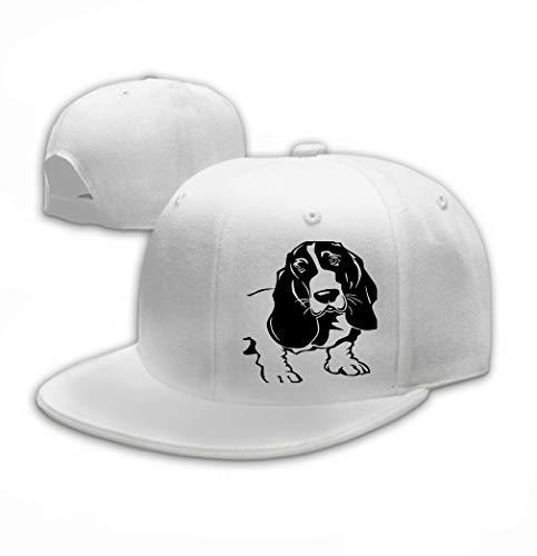 Hat Adult Baseball Caps Sunshade Hat Snapback Cap Basset Hound White ()