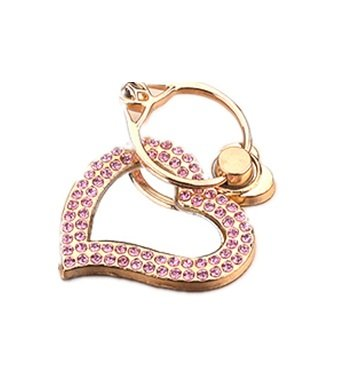 TBOP PHONE RING BUCKLE THE BEST OF PLANET SIMPLE & STYLISH Metal cartoon mirror love pink ring bracket bracelet buckle lazy folding mobile phone ring buckle diamond in golden color