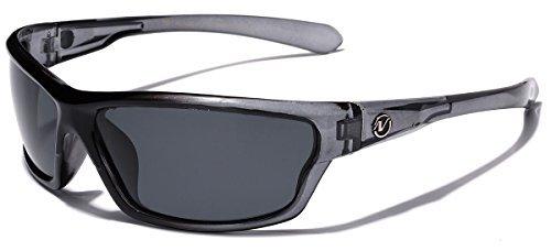Nitrogen Polarisiert Verpackung um Sport-Sonnenbrille - Stahlblau 1 69 eine Größe passt meistens grau | Rauch