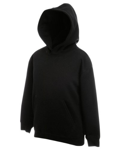 Fruit Of The Loom Kids Childrens Hoodie Hooded Sweatshirt Black 9-11 Years