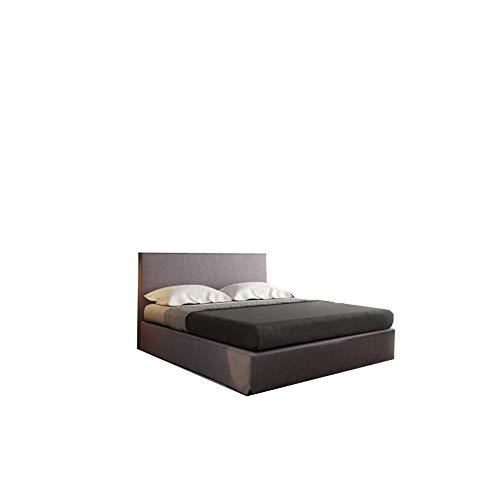 mb-moebel Boxspringbett 160 x 200 cm Bonell Polsterbett Doppelbett Bett mit Bettkästen Braun Monica