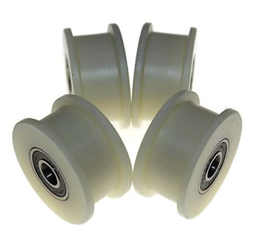 4 Stück Nylon Gurtspanner 50mm Ø 17mm Nut 10mm Lager exakt in der EU (50-17-10)