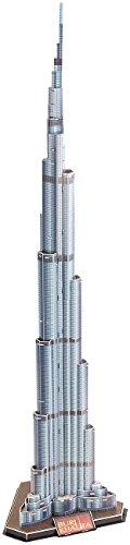 Playtastic 3D Modellbau Puzzle: 3D-Puzzle Burj Khalifa, das höchste Gebäude der Welt, 92 Puzzle-Teile