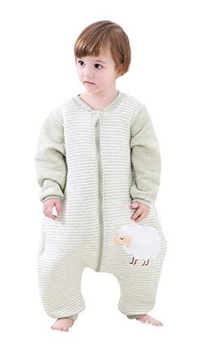 Babyfat sacco nanna/pigiama con piedini neonato bambino autunno/invernale 2.5tog - pecora - verde label 100(2-3t)