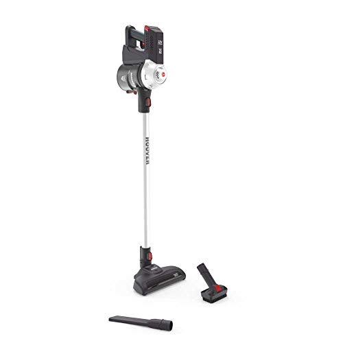 Hoover FD 22G Escoba sin Cables y Aspirador de Mano, Ideal Todas Las Superficies, batería de Litio 22V, 0.7 litros, Color Gris Perla