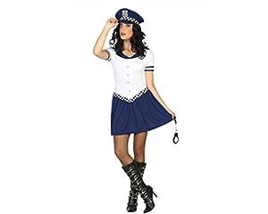 Atosa- Disfraz Mujer Agente de policía, Color Blanco, M-L (14762)