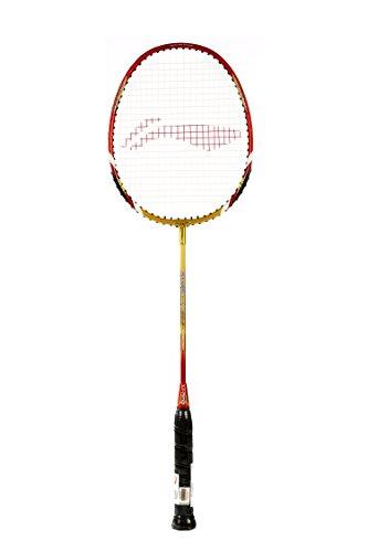 Li-Ning XP 90-II Badminton Racquet (Strung), S2 Grip Size, (Gold/Red)