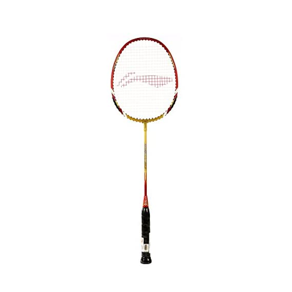 Li-Ning XP 90-II Badminton Racquet (Strung), S2 Grip Size, (Gold/Red)