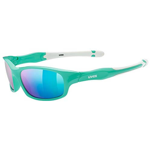 uvex Unisex Jugend, sportstyle 507 Sonnenbrille, green white, one size