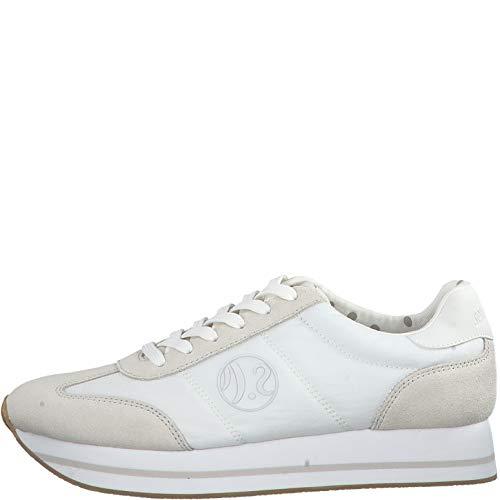 s.Oliver Damen Low-Top Sneaker 23612-22,Frauen Halbschuh,Sportschuh,Schnürschuh,atmungsaktiv,White,37 EU