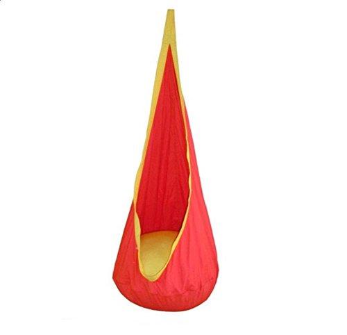 LD@Giocattolo del bambino dell'oscillazione Hammock sedia dell'interno esterni gioca Hanging Altalena da Sedile hangstol per la lettura tenda rilassarsi , orange