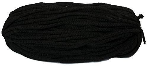 Baumwollkordel 6 mm dick 50 Meter Lang Baumwollkordel schwarz