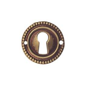 Schlüsselblatt Louis XVI Messing Antik klein 30 mm - Qualität aus Europa seit 1998