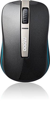 Rapoo 6610 Dual Mode Optical Maus (2,4 GHz Wireless und Bluetooth Funktion, 1000 DPI) schwarz