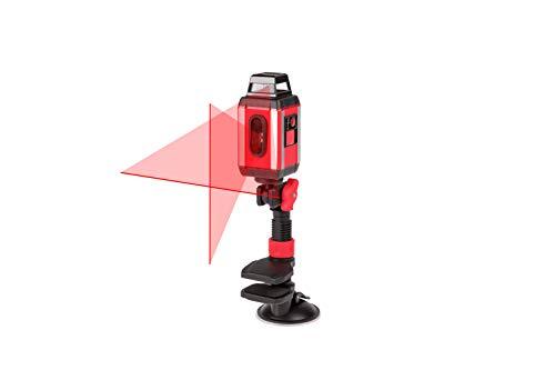 Action walter rotationslaser 360° starker akku rot schwarz