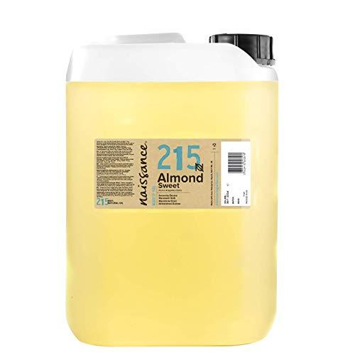 Naissance natürliches Mandelöl süß (Nr. 215) 5 Liter (5000ml) - Vegan, gentechnikfrei - Ideal zur Haar- und Körperpflege, für Aromatherapie und als Basisöl für Massageöle