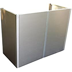 Gero metall Mülltonnen-Sichtschutz, Mülltonnenverkleidung Corso für Zwei 120 Liter Mülltonnen