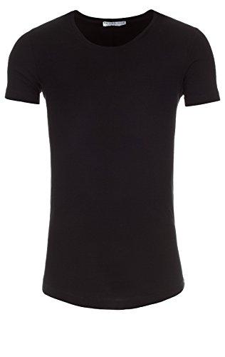 Redbridge Herren T-Shirt Rundhals Basic Shirt Black