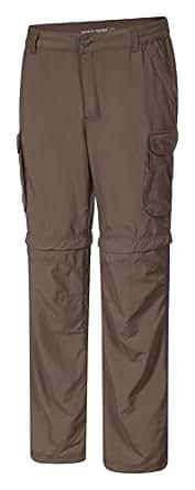 """Icepeak Leo Pantaloni Zip Off, colore: verde oliva (36"""")"""