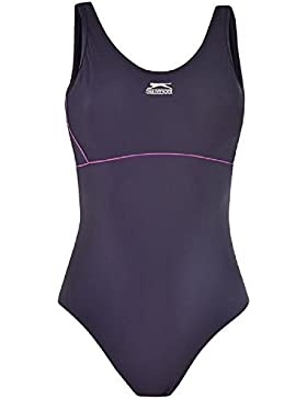 Slazenger - Traje de baño con soporte, bañador, mujer, azul marino, 40