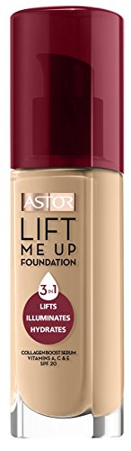 Astor Lift Me Up Make-Up, 3-in-1 Anti-Aging Foundation, Farbe 301 Honey, 1er Pack (1 x 30 ml)