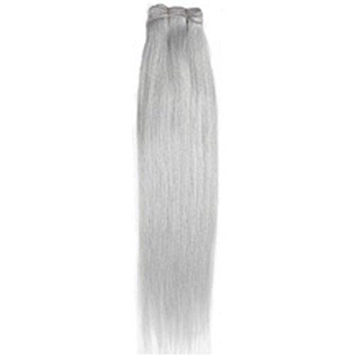 Forever young premium veri capelli umani extension full head weft argento grigio 40,6cm