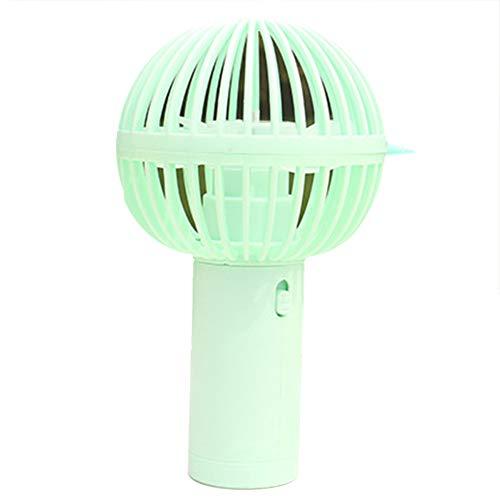 Drawihi Elektrischer Kleiner Fan USB Ventilator Mikrofon Eiscreme-Form Mini Lüfter Einfach zu Tragen für Reisen und Zuhause (Grün)