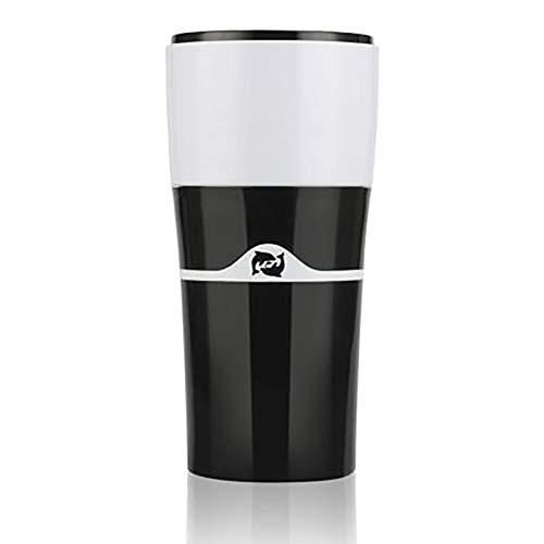 MYD888 Moka Herd Top-Kaffeemaschine Französisch Presse Portable Outdoor, Drip Pot, Kaffee Mocha Hand Punch Pot Creative Semi-Automatic Coffee Appliance,Black
