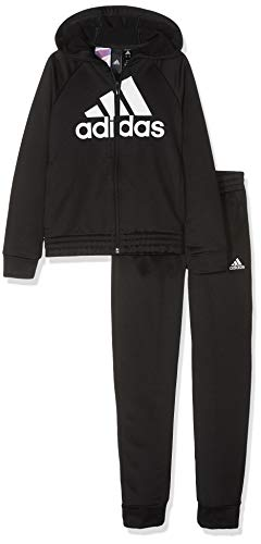 Zoom IMG-1 adidas hooded polyester tracksuit bambina