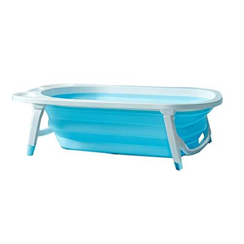 Erwachsene Badewanne, Faltbare Badewanne Tragbare Badewanne Platzsparende Große Badewanne Babyschwimmbad Haushalt Kinderwanne TINGTING (Color : Blue, Size : 82 * 50 * 23cm)