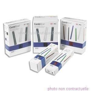 GBC Canutillo 4020623 - Pack de 25 accesorios de plástico para encuadernado, 12 mm, 6,3 cm x 7,4 cm x 33 cm, color negro
