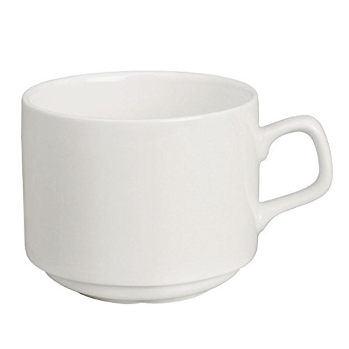 Nisbets Cn831 Lumina en porcelaine fine empilage Tasse Compatible avec soucoupe, Cd646, 200 ml, 7 G
